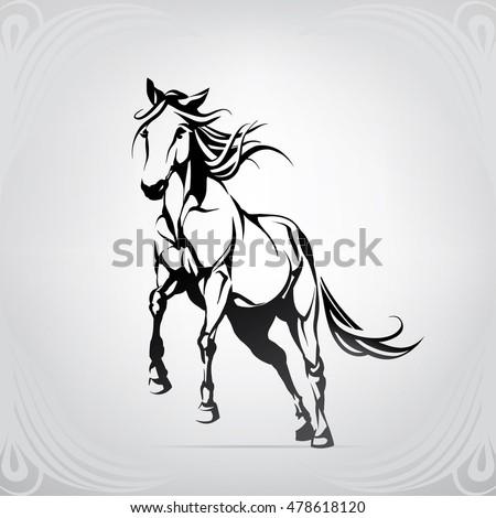 mustang horse stock images royalty free images vectors shutterstock. Black Bedroom Furniture Sets. Home Design Ideas
