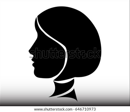 Vector silhouette of a woman. - Illustration Women, Human Face, Females, Human Head, Adult
