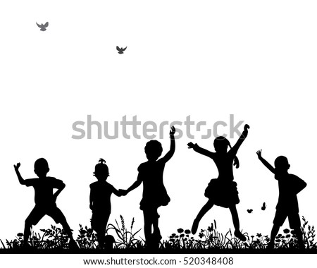 children silhouette stock images royaltyfree images