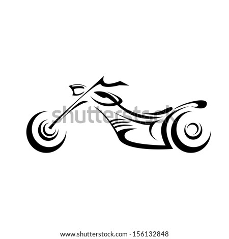 vector Silhouette of classic motorcycle  - stock vector