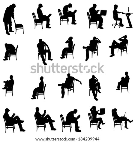 Man Sitting Silhouette Stock Images Royalty Free Images