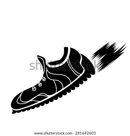 track shoe silhouette stock images royalty free images vectors shutterstock 6763