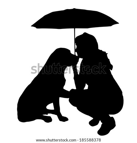 Silhouette Umbrella Woman Stock Images, Royalty-Free ...  Silhouette Umbr...