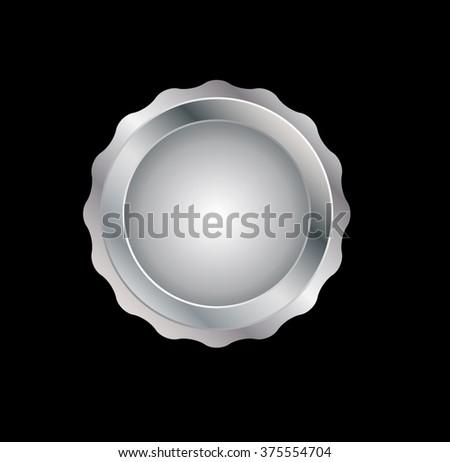 Vector Silver Award .  - stock vector