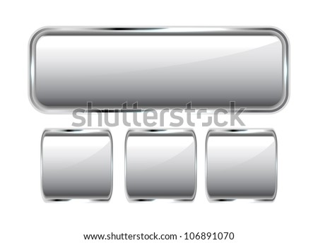 Vector silver buttons - stock vector