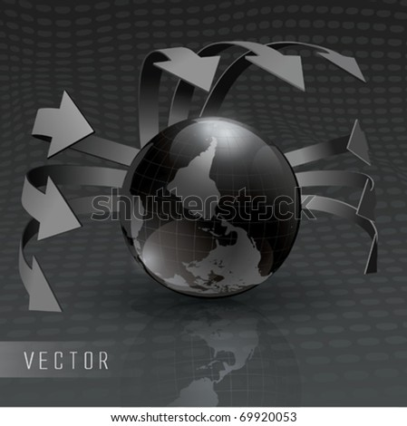 Vector Silver Earth - stock vector