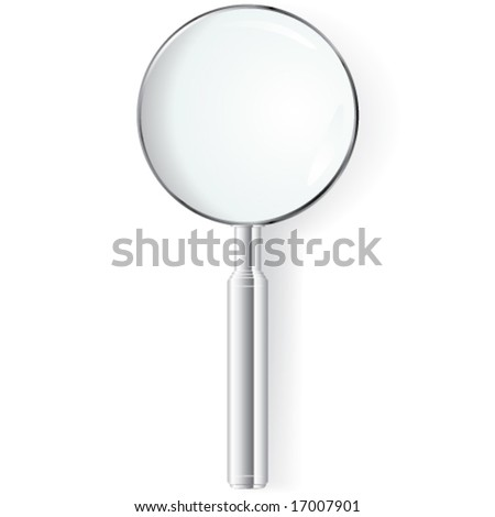 Vector Silver Magnifying Glass