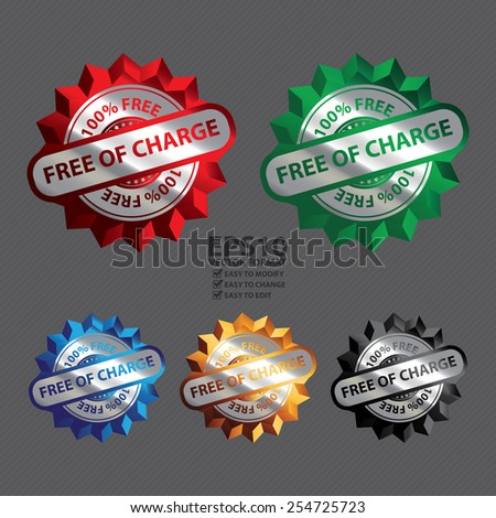 Vector : Silver Metallic Free of Charge 100% Free Icon, Label, Sign or Sticker