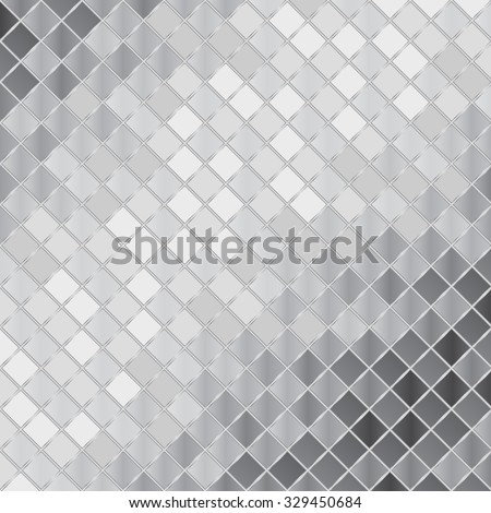 Vector silver mosaic background - stock vector