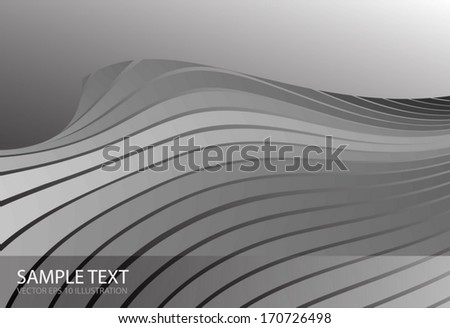 Vector silver space design background template - Metal abstract world background for modern design illustrations