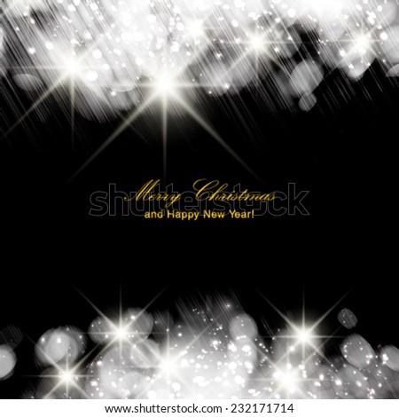 Vector silver sparkle glitter background. Sparkling flow background. - stock vector