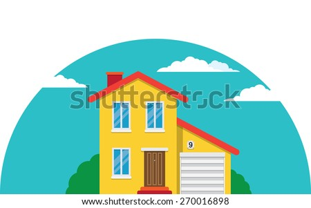 Vector simple house for your advertisement, design and logo - stock vector