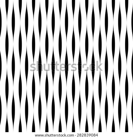vector simple pattern of wavy stripes. seamless background - stock vector