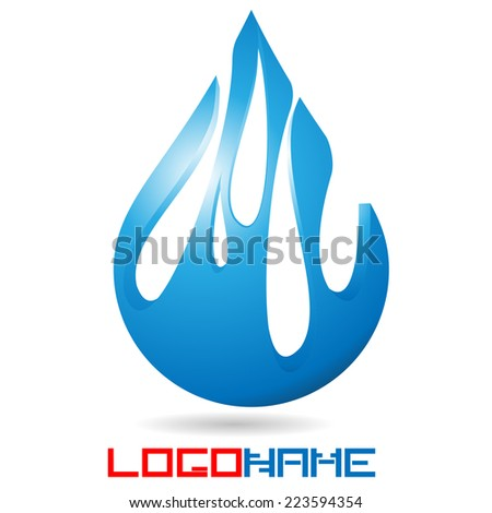 Vector Single Blue Water Drop Isolated on the White Background . Logo Design .  - stock vector