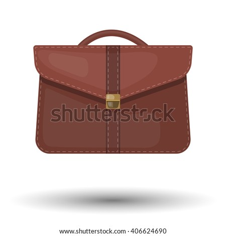 Vector single colorful briefcase icon