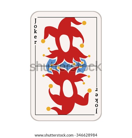 Vector Single Joker Card - stock vector