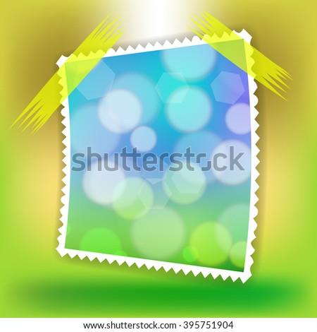 Vector Single Photo Frame - stock vector