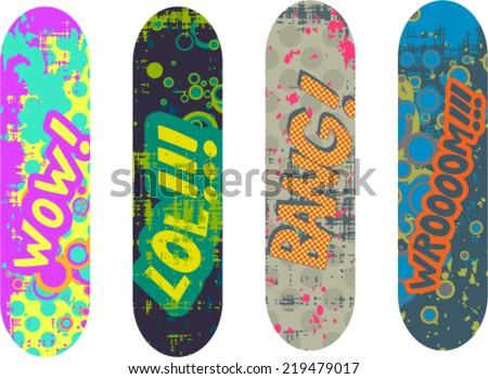 Skateboard Design Stock Images, Royalty-Free Images & Vectors ...
