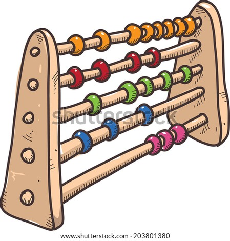vector sketch abacus - stock vector
