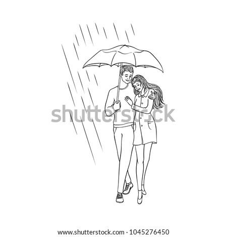 nude man with umbrella