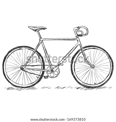 vector sketch illustration - bicycle - stock vector