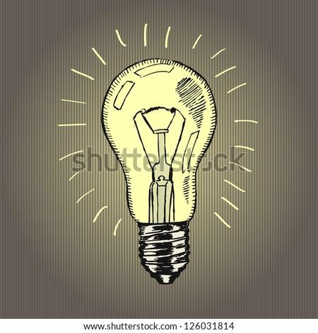 Vector sketch � lamp - stock vector