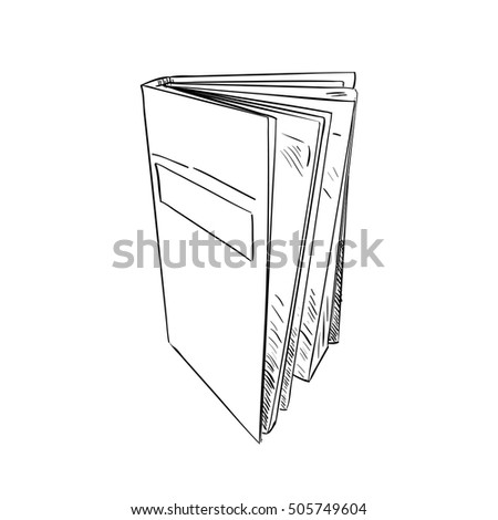 Vector sketch of book. Hand draw illustration.
