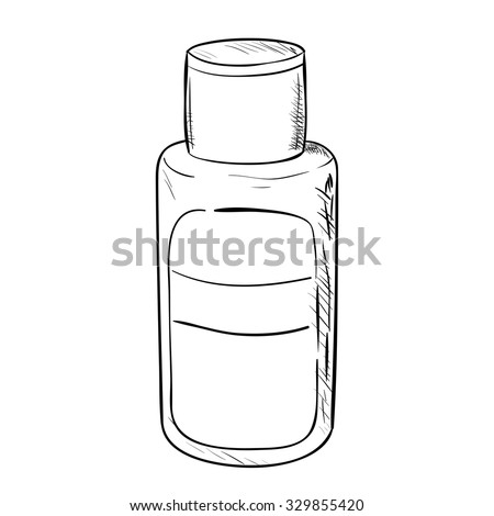 Vector sketch of bottle. Hand draw illustration. - stock vector