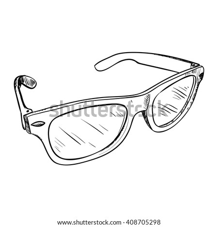 Vector sketch of glasses. Hand draw illustration. - stock vector