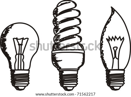 vector sketch of lamps - stock vector