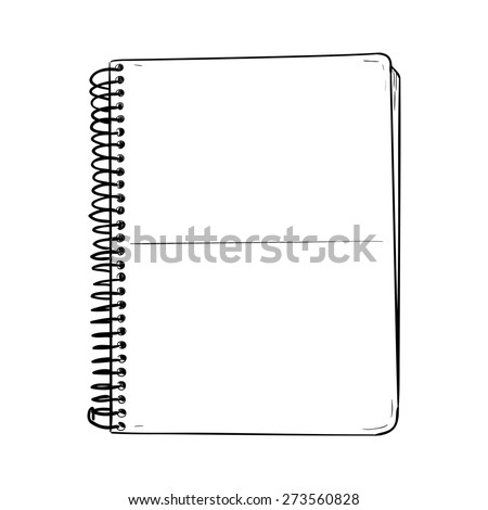 Vector sketch of notepad. Hand draw illustration. - stock vector