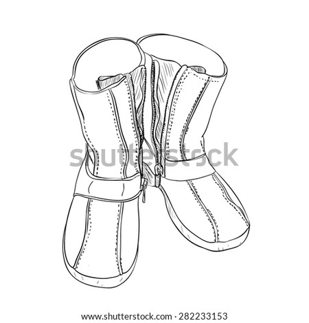 Vector sketch of shoes. Hand draw illustration.