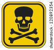 vector skull danger sign - stock photo
