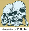 Vector skulls - stock vector