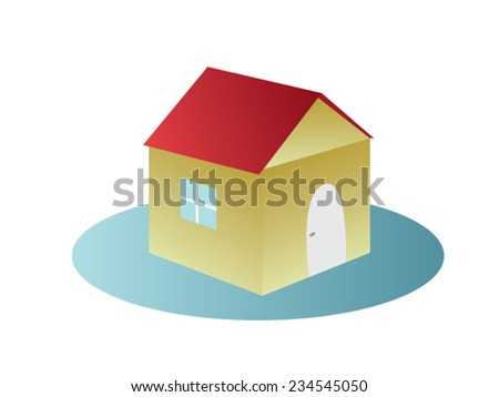 vector small house - stock vector