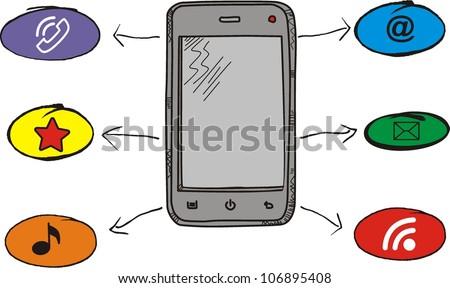 vector Smart Phone Mobile - stock vector