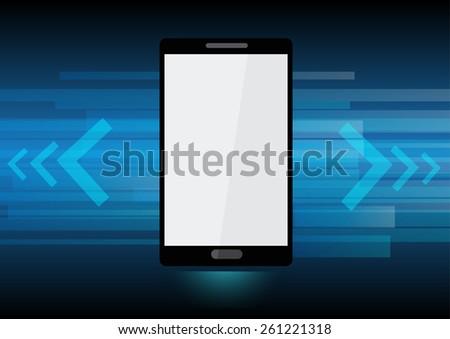 Vector Smart Phone technology background - stock vector