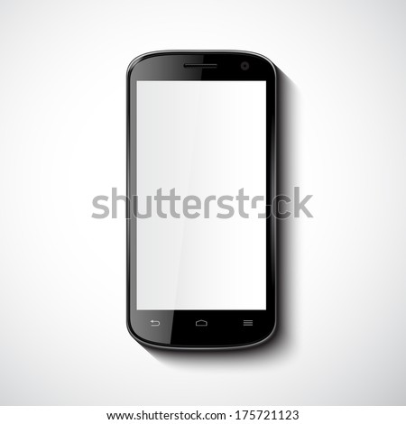 Vector Smart Phone With Blank Screen
