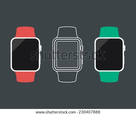 Vector Smart Watch - stock vector