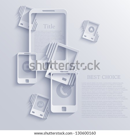 Vector smartphone icon background. Eps10 - stock vector