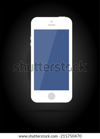 Vector smartphone similar to iphone. Key ideas is connect, phone, gadget, isolated, technology, cell, talk, connection, object. Isolated on dark background - stock vector