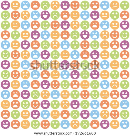 Vector smile icon - stock vector