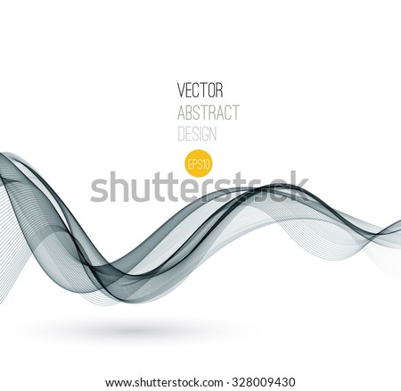 Vector Smoke. Abstract template Fractal background. EPS 10 - stock vector