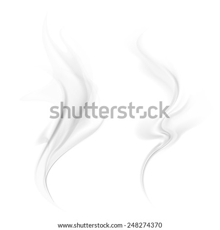 Vector smoke isolated on white background - stock vector