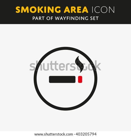 Vector smoking icon. Cigarette sign. Nicotine symbol - stock vector