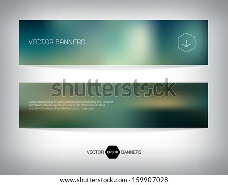 Vector smooth web banner, business card or flyer design. Blurry unfocused photographic effect. Soft and modern background. Light and minimal.  - stock vector