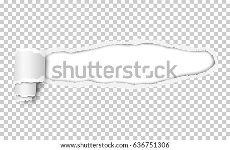 vector snatched window piece transparent paper stock vector royalty