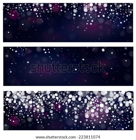 Vector snow  banners. - stock vector