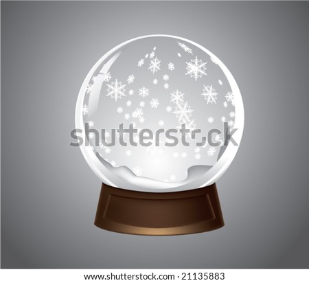 vector snow-dome