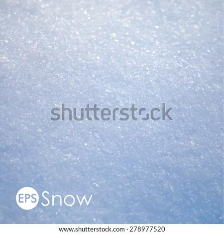 Vector snow texture - stock vector